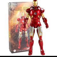 stute 1/6 Ironman 2 Iron Man Mark VII 7 Figure mirip hot toys