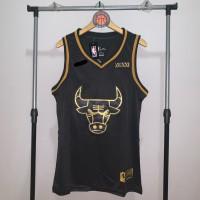Jersey Basket Swingman NBA Chicago Bulls Michael Jordan Black Gold