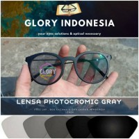 kacamata lensa photocromic gray normal/plus/silinder