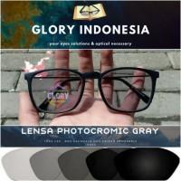 kacamata minus/normal/silinder lensa photokromik photocromic