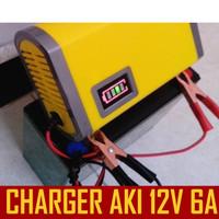 Charger Aki, Cas Aki Otomatis / Charger Accu, Charger aki Mobil 6A