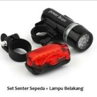 Lampu Sepeda Depan dan Belakang 1 Set (LED)