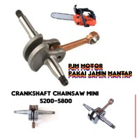 Crankshaft Kruk As Kol as Mesin Chainsaw Sinso Senso 5200 5500 5800