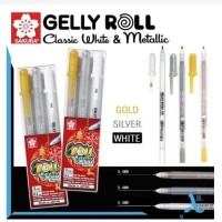 Sakura Gelly Roll Metallic & White Set 3