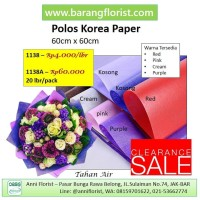 Polos Korea Paper (1138A), 20 lbr/pack, Aksesoris toko bunga, kertas