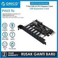 ORICO 7 Port USB3.0 PCI-E Expansion Card with Dual Chip - PVU3-7U