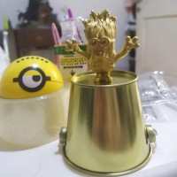 HAPPY MEAL MCD MINION GOLD RARE EVIL MINION