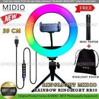 RingLight Rainbow Midio RB20 Ring Light RGB TikTok Youtuber
