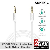 Aukey Cable 1.2M AUX Audio Gold Plate Braided Nylon - 500168