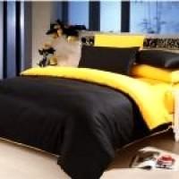 Sprei Polos Premium 160 Black Yellow