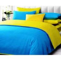 Sprei Polos Premium 160 Blue Yellow