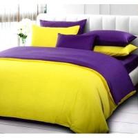 Sprei Polos Premium 160 Yellow Purple