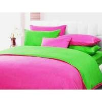 Sprei Polos Premium 160 Pink Green