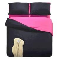 Sprei Polos Premium 160 Black Pink