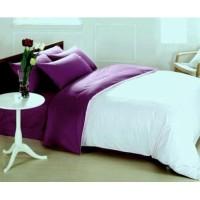 Sprei Polos Premium 160 White Purple