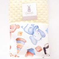 carrol baby blanket Safari MIX - yellow - selimut bayi safari minky