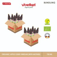 VOELKEL ORGANIC APPLE CIDER VINEGAR WITH MOTHER 750 ML (12 PCS )