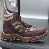 SAFETY SHOES LAVIO ARMO HITAM COKLAT CREAM TAN - Cokelat, 39