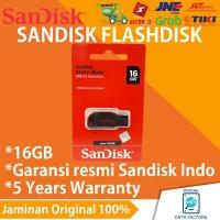 Flashdisk Sandisk Cruzer Blade 16GB CZ50 100% Original Garansi Resmi