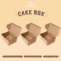 Kotak Kue/Makanan Ringan Bahan Kertas ECO Kraft/Paper Cake Box