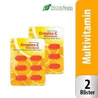 Enaplex-C (Isi 2 Blister) Vitamin C dan B Kompleks Suplemen Kesehatan