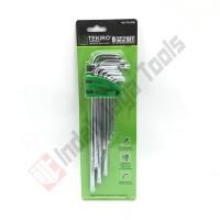 TEKIRO HK-TA1206 Tamper Torx Key Set 9 Pcs - Kunci L Bintang Panjang