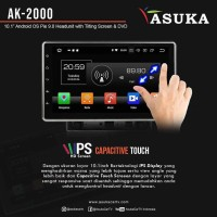Head Unit Double Din Android 10 inch Asuka AK-2000 - Ram 4GB Original