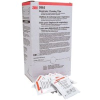 3M Respirator Cleaning Wipe 504/07065 Alcohol-Free - 1 Box [isi 100]