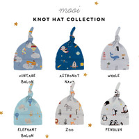 Topi Bayi Knot Hat Printing Mooi