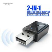 Highgos Adapter Receiver USB Wireless Bluetooth 5.0 Kualitas Tinggi