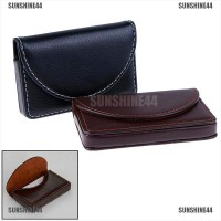 Pocket Leather Name Business Card ID Card Credit Card Holder Case