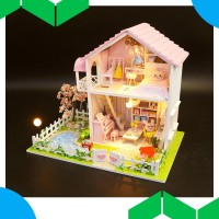 lawrence DIY Assembled Cottage Love of Cherry Tree Doll House Kids