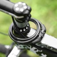 4-Digital Sepeda Sepeda Anti-Pencurian Keamanan Chian Lock e Cable