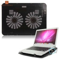 LV Laptop Cooling Cooler Pad Stand USB Powered Two Fans for 15.6