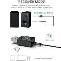 Adapter Transmitter Receiver Wireless USB Bluetooth 5.0 untuk PC