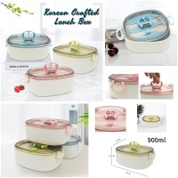 Korean Crafted Lunch Box Wheat BPA Free ( 1 Set Sendok Garpu )