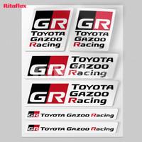 Sticker Mobil TOYOTA GAZOO Racing 1 Pack 6 pcs