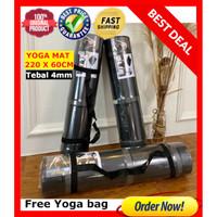 Matras Yoga Mat Yoga Extra SIZE 200x60cm Anti Slip GRATIS TAS YOGA