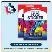 Kertas HVS Stiker Matte A4 - 20pcs / Kertas Stiker