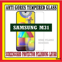 SAMSUNG M31 6.4 INCH M315 ANTI GORES TEMPERED GLASS KACA BENING 910626