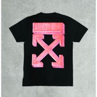 Off White FW20 Marker Slim Tee Black/Red 100% Authentic