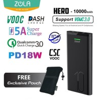 Power Bank Zola Hero 10000 mah VOOC Quickcharge