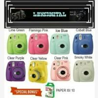 Fujifilm Instax Mini 9 Kamera Polaroid Instax BONUS Paper isi 10