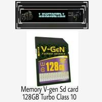 Memory V-Gen SD Card 128GB Turbo Series Class 10
