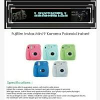 Fujifilm Instax Mini 9 Kamera Polaroid Instant BonUs Paper isi 20pcs
