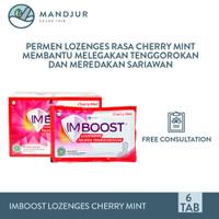 Imboost Lozenges Cherry Mint Strip Isi 6 Tablet - Pelega Tenggorokan