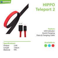 Hippo Kabel Data Charger Teleport2 Micro USB 200CM Cable Data Original