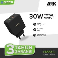 Hippo Ark 2 Adaptor Charger Quick Charge 3.0 TOTAL 30W 2 Port USB
