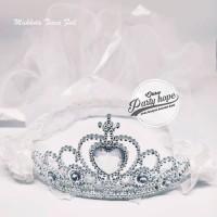 Mahkota Tiara Pengantin PUTIH Mahkota Bridal Shower Set Bando dan Veil