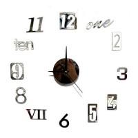 Jam Dinding 3D DIY Giant Wall Clock Quartz Creative Design 80-100cm